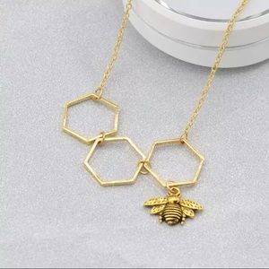 Bee Honeycomb Necklace